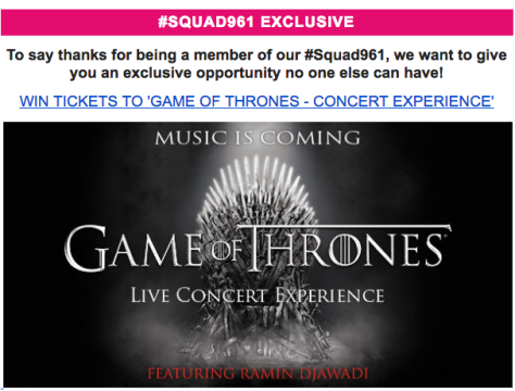 game of thrones contest
